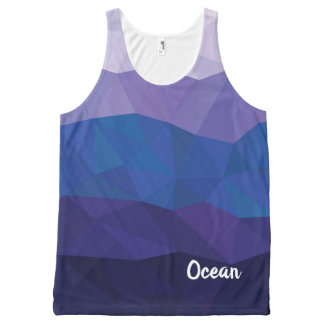 Blue ocean modern geometric tank top