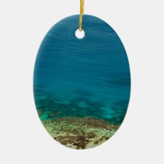 Blue ocean off Yasawas Island, Fiji Ceramic Ornament