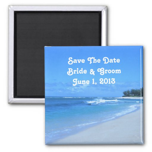 Blue Ocean Save The Date Magnet