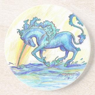 Blue Ocean Sea Unicorn Fish Horse Hippocampus Coaster