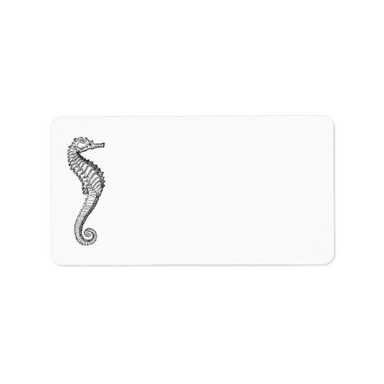 Blue Ocean Seahorse | Personalised Blank Address Address Label