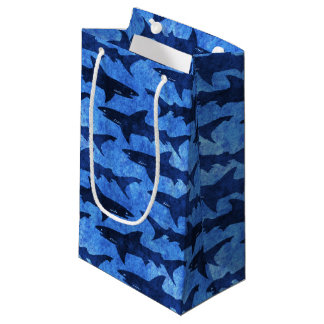 Blue Ocean Shark Attack Small Gift Bag