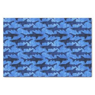 Blue Ocean Shark Attack Tissue Paper