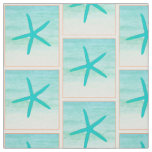 Blue Ocean Starfish Fabric