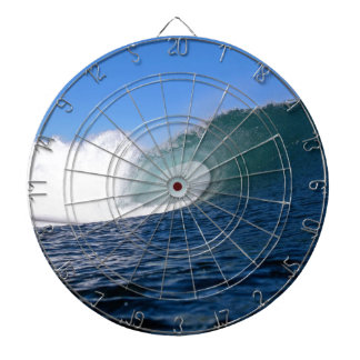 Blue ocean surfing wave Chile Dartboard