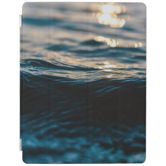 Blue Ocean Waves and Sunset iPad Cover