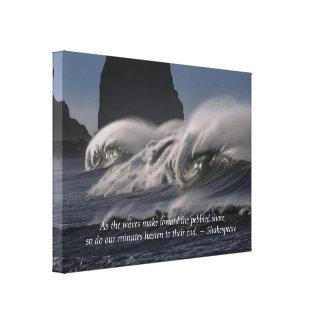 Blue Ocean Waves Canvas Print