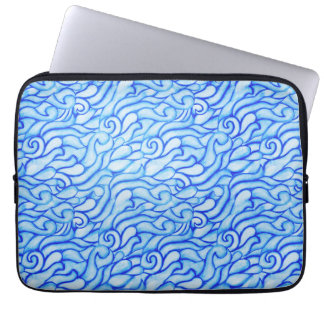 Blue Ocean Waves Neoprene Laptop Sleeve