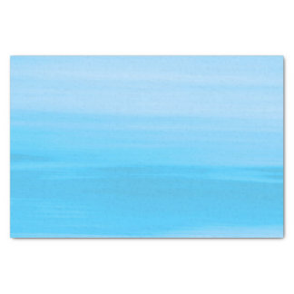 Blue ocean waves with shades of blue tissue paper
