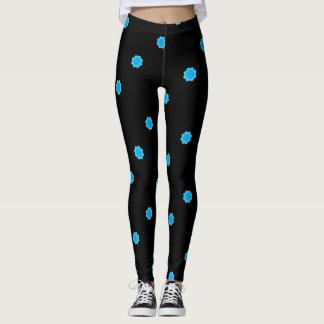 blue octagons black leggings