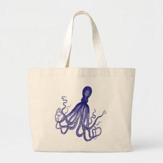 Blue Octopus 5 Jumbo Tote Bag