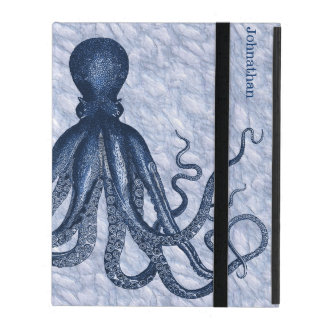 Blue Octopus Custom iPad 2/3/4 Case