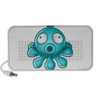 Blue Octopus Japanese Logo Laptop Speaker