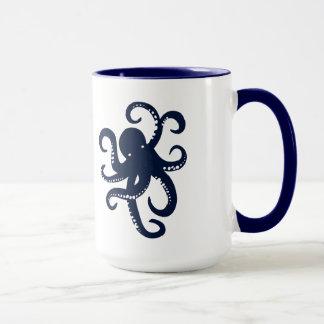 Blue Octopus Simple Illustration Mug