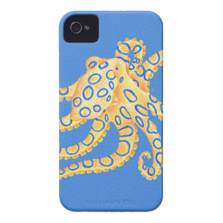 Blue Octopus Stained Glass Case-Mate iPhone 4 Cases