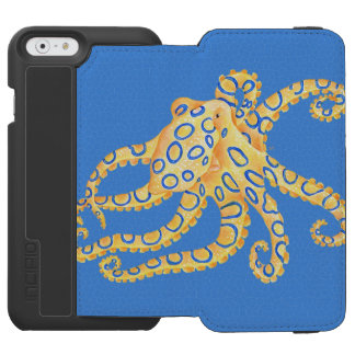 Blue Octopus Stained Glass Incipio Watson™ iPhone 6 Wallet Case