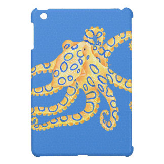 Blue Octopus Stained Glass iPad Mini Cover