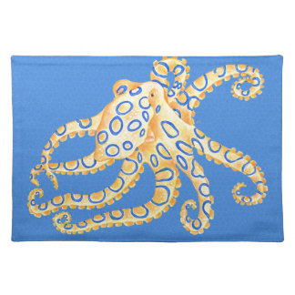 Blue Octopus Stained Glass Placemat