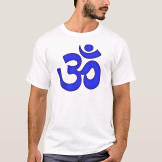 BLUE om,aum,sanskrit, mantra, yoga, tantra T-Shirt
