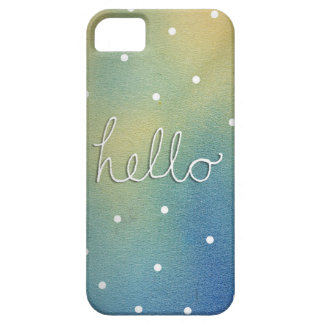 Blue ombre 'Hello' Case For The iPhone 5