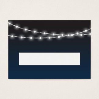 Blue Ombre Lights Wedding Reception Place Cards