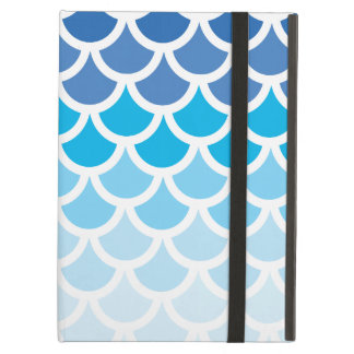 Blue Ombre Mermaid Scales Case For iPad Air