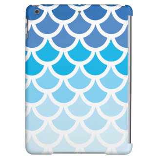 Blue Ombre Mermaid Scales Cover For iPad Air
