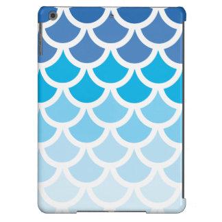 Blue Ombre Mermaid Scales iPad Air Case
