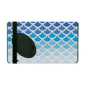 Blue Ombre Mermaid Scales iPad Folio Cases