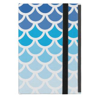 Blue Ombre Mermaid Scales iPad Mini Cases