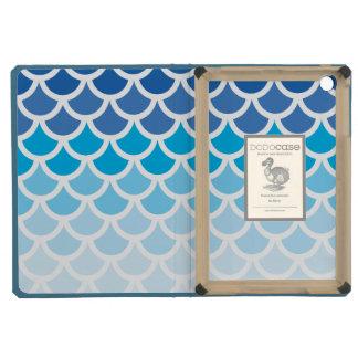 Blue Ombre Mermaid Scales iPad Mini Cover