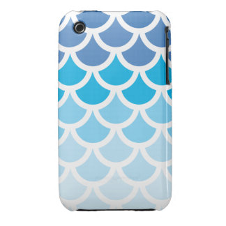 Blue Ombre Mermaid Scales iPhone 3 Case-Mate Case