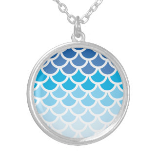 Blue Ombre Mermaid Scales Jewelry