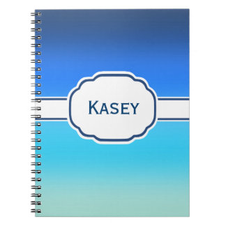 Blue Ombre Personalized Cigar Band Notebooks