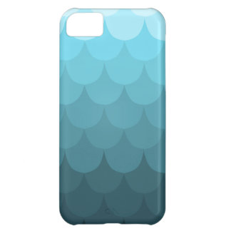 Blue Ombre Scallop Pattern iPhone 5C Case