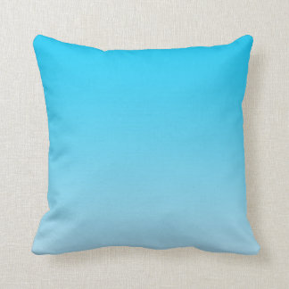 """""""Blue Ombre"""" Throw Pillow"""