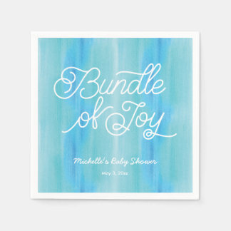 Blue Ombre Watercolor Baby Shower Napkins Paper Napkin