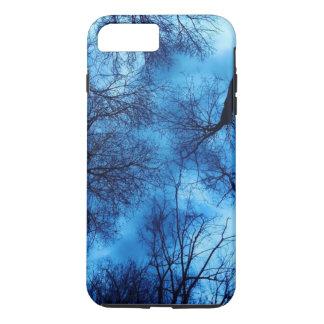 Blue on Black Trees - Iphone Case