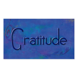 Blue on Blue Block Gratitude Affirmation Cards Pack Of Standard Business Cards