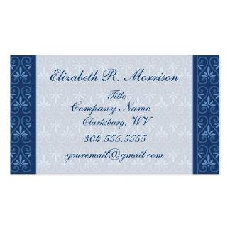 Blue on Blue Damask Pattern Business Card