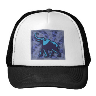 Blue on Blue Elephant Cap