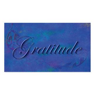 Blue on Blue Script Gratitude Affirmation Card Pack Of Standard Business Cards