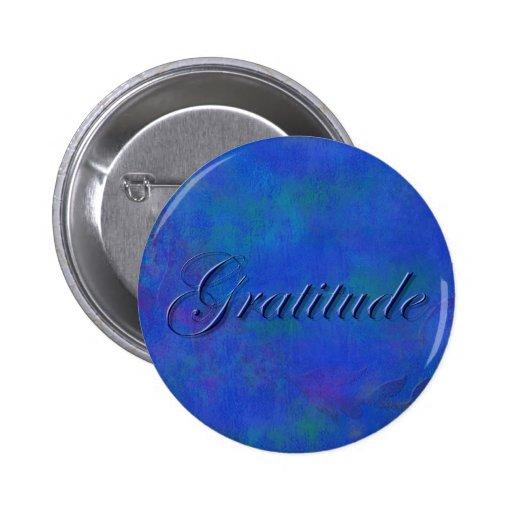 Blue on Blue Script Gratitude Button