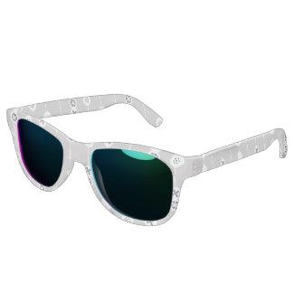 Blue on Gray Retro Fruit Slices Sunglasses