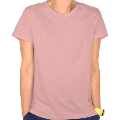 Blue on Pink Tee Shirts