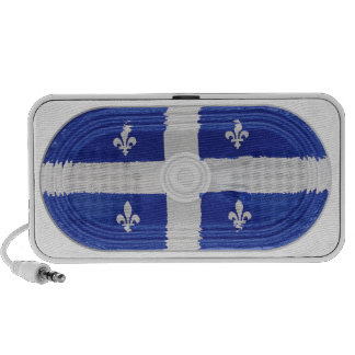 Blue on White Canada Quebec Flag Fleur-de-lis Mini Speaker