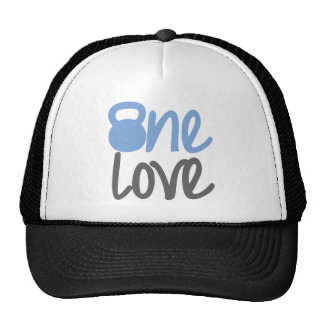 "Blue ""One Love"" Mesh Hats"
