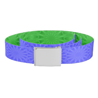 Blue or Green Starburst Reversible Canvas Belt