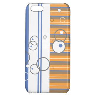 Blue Orange Bubble Strip iPhone 5C Cover
