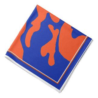 Blue Orange Camouflage Bandana